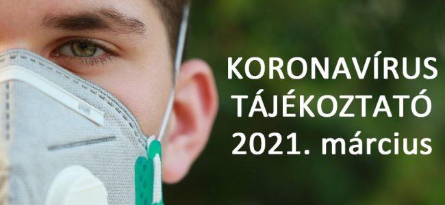 Koronavírus tájékoztatók a legújabb változtatásokról (március 5.)